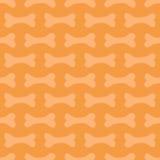 Leuke naadloze het patroonachtergrond van krabbelhalloween met beenderen Stock Afbeelding