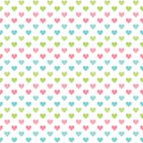 Leuke naadloze liefdeachtergrond met pastelkleurharten vector illustratie