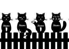 Leuke naadloze patroonachtergrond met katten vector illustratie