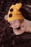 Leuke nieuw - geboren jongen Stock Foto