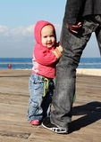 Leuke oude baby van 10 maanden Royalty-vrije Stock Afbeelding