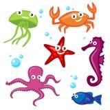 Leuke Overzeese Monsters royalty-vrije illustratie