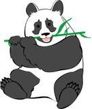 Leuke panda die bamboe eet Royalty-vrije Stock Afbeeldingen