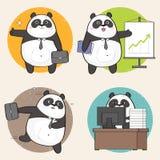 Leuke panda op het werk Stock Illustratie