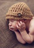 Leuke pasgeboren babyjongen Royalty-vrije Stock Fotografie