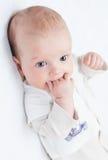 Leuke pasgeboren babyjongen royalty-vrije stock afbeeldingen