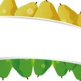 Leuke perenbanner als achtergrond Stock Afbeeldingen