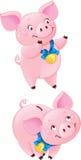 Leuke piggy-Bank Stock Foto's