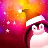 Leuke pinguïn voor Vrolijke Kerstmisviering Royalty-vrije Stock Foto
