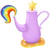 Leuke pot met regenboog royalty-vrije illustratie