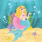 Leuke Prinses Mermaid vector illustratie