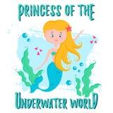 Leuke Prinses Mermaid Vector illustratie vector illustratie