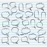 Leuke reeks van lege het ontwerpillustratie van de bellentoespraak Stock Afbeelding