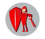 Leuke Ridder Mascot Design Royalty-vrije Stock Foto's