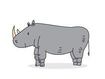 Leuke rinoceros vector illustratie