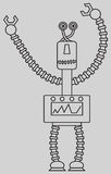 Leuke robot Stock Afbeelding