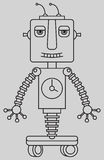 Leuke robot Stock Foto