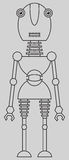 Leuke robot Royalty-vrije Stock Afbeelding