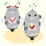Leuke robots - jongen en meisje Royalty-vrije Stock Fotografie