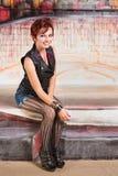 Leuke Rode Haired Vrouw Royalty-vrije Stock Afbeeldingen