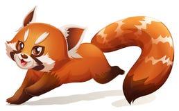 Leuke rode panda Stock Afbeelding