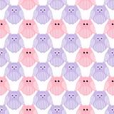 Leuke roze en violette uilen Royalty-vrije Stock Fotografie