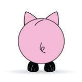 Leuke rug van varkens vectorillustratie vector illustratie