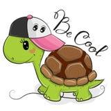 Leuke Schildpad met een roze GLB vector illustratie