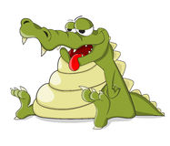 Leuke slechte krokodil die Stock Foto's