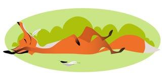 Leuke sluwe volledige vos stock illustratie