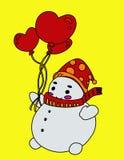 Leuke Sneeuwman Stock Afbeelding