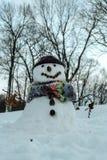 Leuke sneeuwman Stock Afbeeldingen