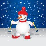 Leuke Sneeuwman (illustratie) vector illustratie