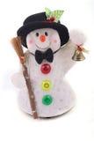 Leuke Sneeuwman met hoed royalty-vrije stock afbeelding