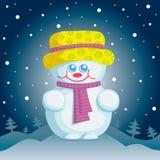 Leuke sneeuwmanillustratie Royalty-vrije Stock Afbeelding