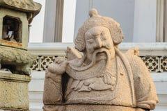 Leuke steen van Chinees kunstenstandbeeld in Wat Suthat Temple, Bangkok, Royalty-vrije Stock Foto