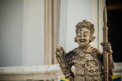 Leuke steen van Chinees kunstenstandbeeld in Wat Suthat Temple, Bangkok, Stock Foto