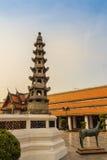 Leuke steen van Chinees kunstenstandbeeld in Wat Suthat Temple, Bangkok, Stock Afbeelding