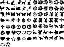Leuke symbolen Stock Foto