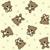 Leuke teddybeer naadloze achtergrond vector illustratie