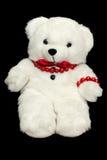 Leuke teddybeer op zwarte achtergrond Aanwezige kindliefde Stock Foto's