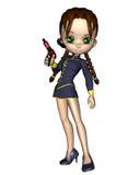 Leuke Toon Female Starship Officer Royalty-vrije Stock Afbeeldingen