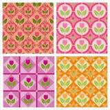Leuke tulpenpatronen Stock Afbeelding