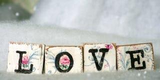 Leuke uitstekende liefdeblokken Royalty-vrije Stock Foto