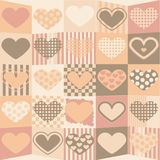 Leuke valentijnskaartachtergrond Royalty-vrije Stock Afbeelding