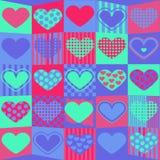 Leuke valentijnskaartachtergrond Stock Afbeeldingen
