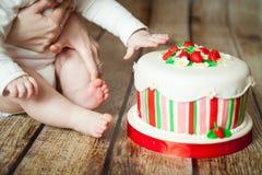 Leuke 6 van het babymaanden meisje Royalty-vrije Stock Afbeelding