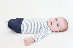 Leuke 3 van het babymaanden meisje Stock Afbeelding