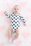 Leuke 2 van het babymaanden meisje Royalty-vrije Stock Afbeeldingen