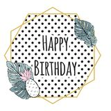 Leuke verjaardagskaart Royalty-vrije Stock Afbeeldingen